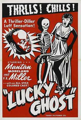 LUCKY GHOST Movie POSTER 27x40 B Mantan Moreland F.E. Miller Florence O'Brien