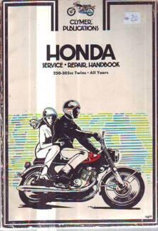 HONDA C72 C77 CL77  ETC TWINS WORKSHO PMANUAL 1962-64