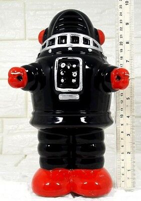 VINTAGE JAPAN HAND PAINT CERAMIC PIGGY COIN BANK  ROBBY THE ROBOT LOST IN SPACE