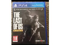 The Last of us remastered PS4 game mint