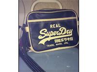 Superdry mini navy bag