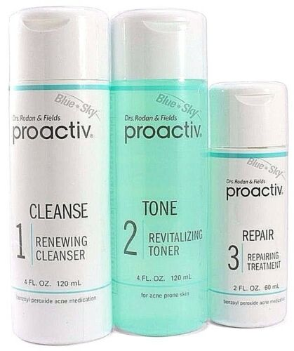 Proactiv 3pc 60 Day Kit cleanser toner lotion Proactive Solution USA 2018exp