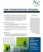 Time Management Training Seminar