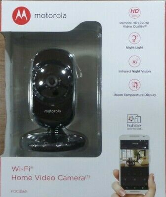 BRAND NEW SEALED MOTOROLA FOCUS 68 WIFI HOME VIDEO CAMERA HD REMOTE PAN.