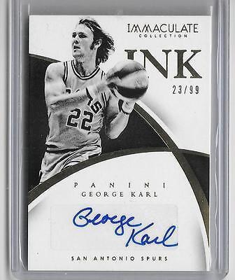 George Karl 2014 15 Panini Immaculate Ink Autograph Auto  23 99