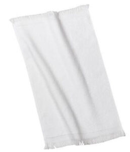 12 WHITE TERRY VELOUR FINGERTIP GOLF HAND TOWELS 11X18