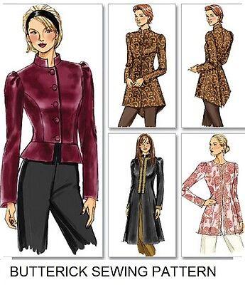 Pattern Womens Fashion (BUTTERICK 1800's WOMEN VICTORIAN STYLE TAILCOAT ASIAN STYLE JACKET PATTERN)