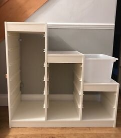 White Ikea Trofast Storage Unit great for Childrens toys