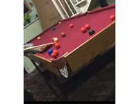 Like New 6 Foot Pool Table - Folds away for storage