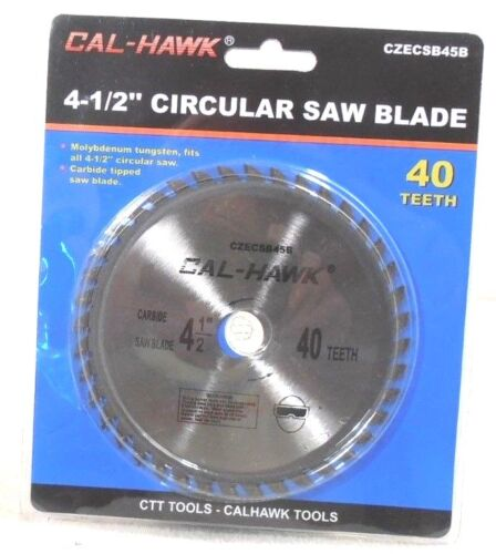 "4-1/2"" X 5/8"" INCH ARBOR 40 TOOTH  CARBIDE TUNGSTEN CIRCULAR SAW BLADE-WOOD"