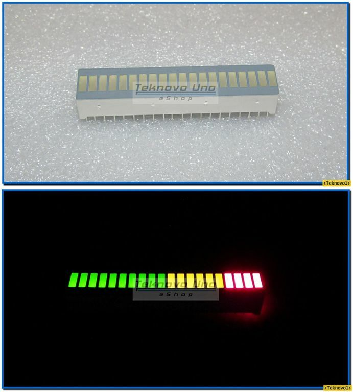2x Bargraph Tri-Color Fixed LED Array 20-Segs for Audio LED VU Meter - USA