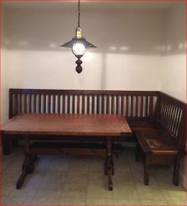 Solid Wood Dinning Table and Bench