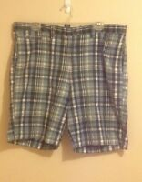 DESIGNER: Ralph Lauren CHAPS - blue plaid shorts