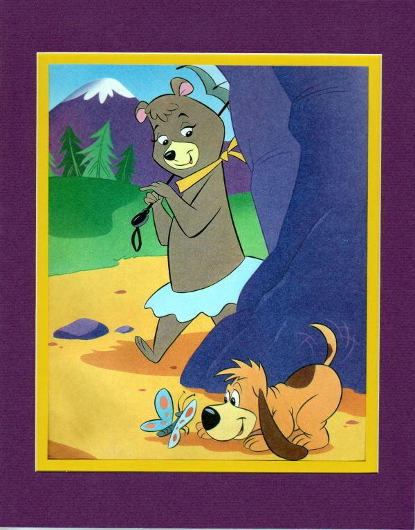 Yogi Bear Gang - CINDY Walking the Dog FAVORITES Professionally Matted PRINT
