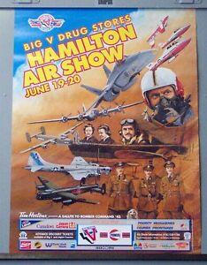 Hamilton warplane air show poster Lancaster bomber