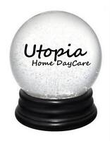 Utopia Home Daycare open for 2 ages 3+ 7am-6pm, great rate