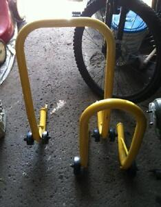 Motorcycle Stands - front & rear
