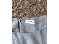 Calvin Klein grey formal dress