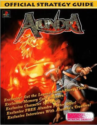 Alundra Official Strategy Guide, Working Designs, New Book