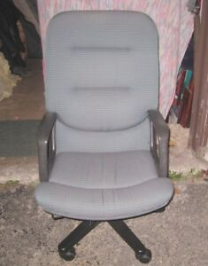 High back Computer Chair, comfortable,greenish, good condition