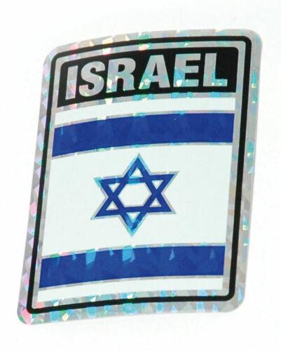 Flag of Israel Bumper Sticker - Jewish Star of David - Reflective