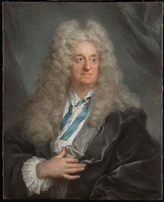 Ölbilder Ölgemälde :Joseph Vivien (French - Portrait of a Man 56x70cm