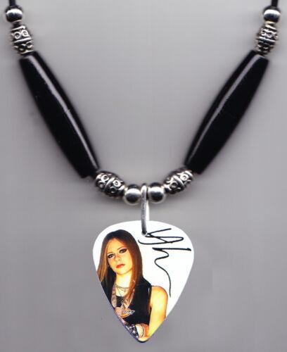 Avril Lavigne Signature Photo Guitar Pick Necklace #9
