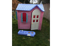 Little Tikes/Tykes Pink Country Cottage Playhouse,Can Deliver 40mils for fee