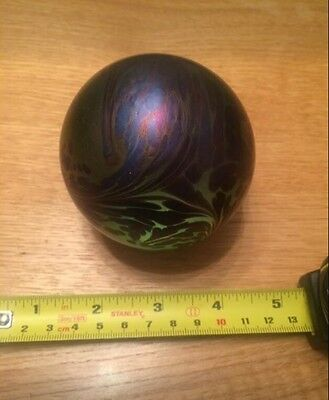 John Ditchfield Glass Glasform Iridescent Sphere/Round Paperweight PW116
