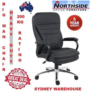 Heavy Duty Big Man People Large Person High Back Leather Executive Office Chair