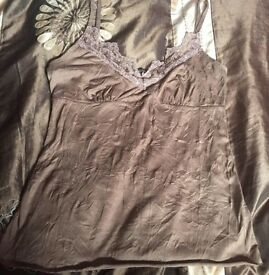 River Island vest top size 8 lace & bead trim
