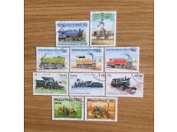 COLLECTABLE TRAIN STAMPS