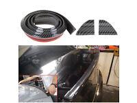 4.9ft/1.5m Car Rear Roof Spoiler Carbon Fibre Rubber Vehicle Exterior Universal