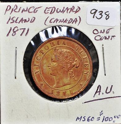 Canadian 1871 Prince Edward Island One Cent Lot 255