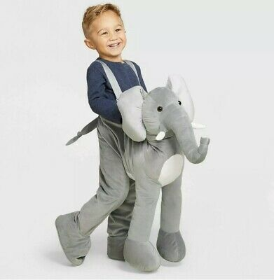 Elephant Rider Costume (Elephant Ride On TODDLER One Size Rider 3D Plush Costume Safari)