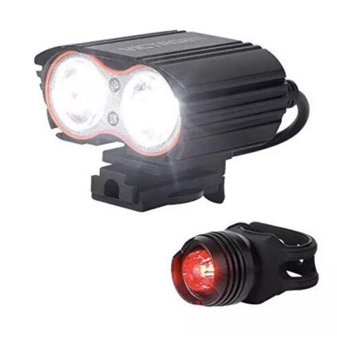 Victagen Bike Front & Tail Light, Super Bright, 2400 Lumens,