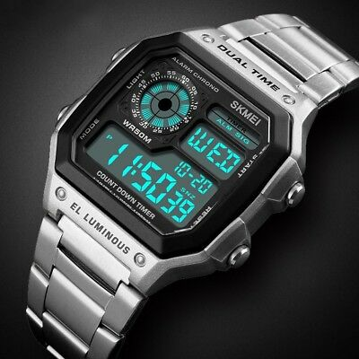 Men Boy's Sport Watch Digital LED Date Waterproof Electronic Quartz Wristwatches