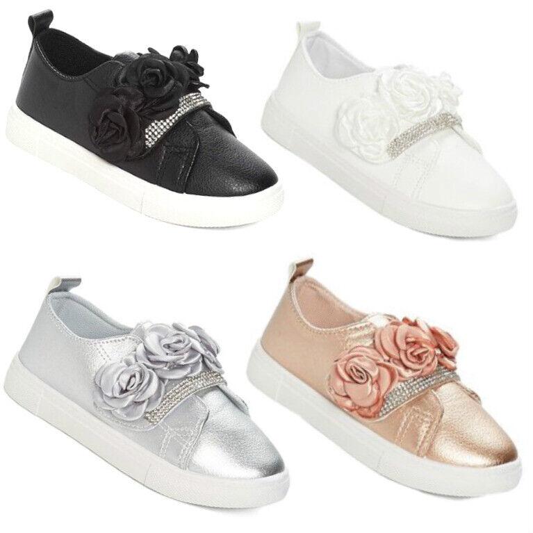 Big Kids Girls Sneakers Dress Tennis Shoes Size 11-3 Rubber