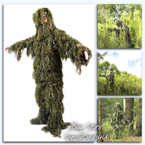 Camouflage Chillie Suit Camo Woodland Forest Hunting 3D Jungle Clothing Set L/XL