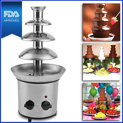 4 Tiers Commercial Stainless Steel Hot New Luxury Chocolate Fondue Fountain BEST