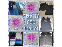 ladies clothes size 16--can split