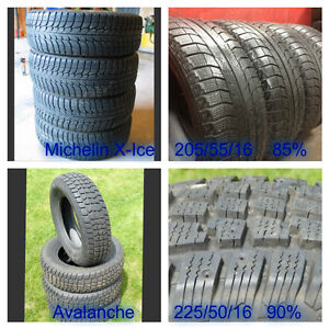 Used 16 inch Winter Tires - 205/55/16 & 225/50/16