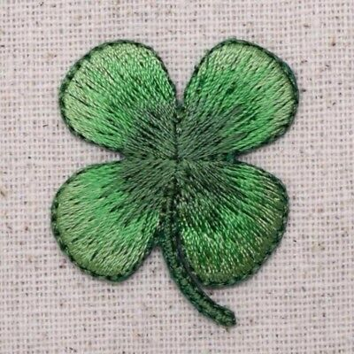 Small 4-Leaf CLover Shamrock/St Patricks Day Iron on Applique/Embroidered Patch