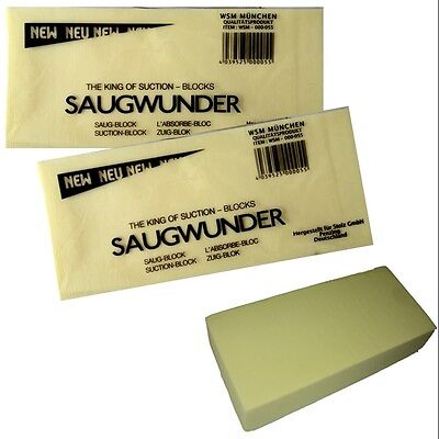 2 x Saugwunder XXL GELB Saug Schwamm Saugblock extra superstark