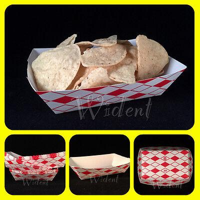 50 Paper Food Tray 2lb Nachos Burger Hotdog