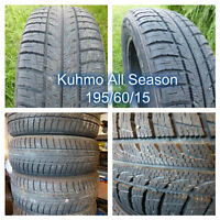 **WheelerDealer** Used Kuhmo Solus All Season Tires - 195/60/15