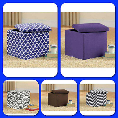 Ottoman Bench Chair Seat Storage Stool Furniture ...