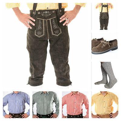 German Bavarian Oktoberfest Trachten Package/Set: Lederhosen Shirt Shoes Socks S