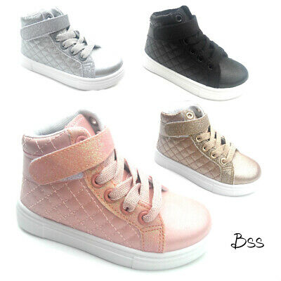 Girls High Sneakers (Big Kids Girls Fashion High Top Sneakers Shoes Size 11-3)