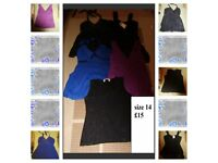 ladies tops size 14 including next and m+co £15 the lot